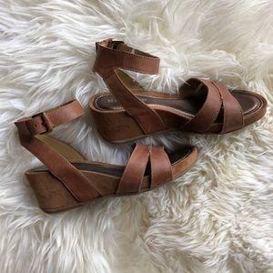 Naturalizer N5 Panya Leather Wedge Sandal Sz 7